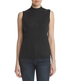 Catherine Malandrino Mock Neck Knit Tank Top