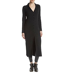 Catherine Malandrino Front Button Up Notch Collar Cardigan