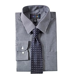 Alexander Julian Men's Long Sleeve Dress Shirt And Tie Set