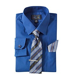 Alexander Julian Men's Five-Piece Dress Shirt And Tie Set