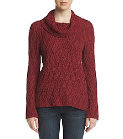 Eight Eight Eight Cowl Neck Basket Texture Sweater