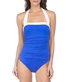 Lauren Ralph Lauren Bel Aire Shirred Bandeau One-Piece