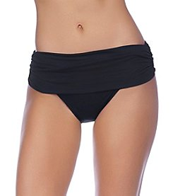 Lauren Ralph Lauren Wide Shirred Banded Hipster Bottom