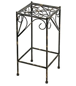 Ore International Medium Celtic Clover Cast-Iron Square Plant Stand