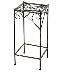 Ore International Large Celtic Clover Cast-Iron Square Plant Stand