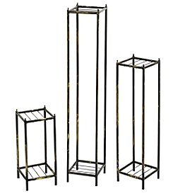 Ore International Set of 3 Cast-Iron Plant Stands