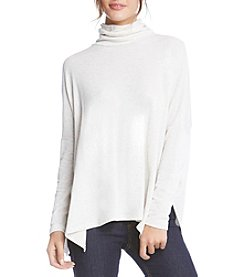 Karen Kane Turtleneck Asymmetrical Hem Top