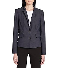 Calvin Klein Seamed Detail Button Front Blazer