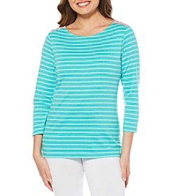 Rafaella Weekend Striped Pattern Tee