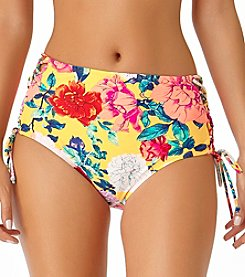 California Sunshine Floral Lace Up Side High Waist Swim Bottoms