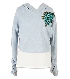 Speechless Girls' 7-16 Hoodie With Embroidered Flower And Tank Top