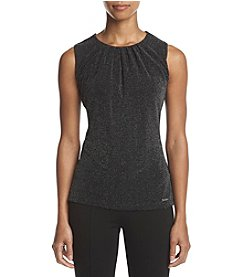 Calvin Klein Petites' Pleated Neck Glitter Design Cami