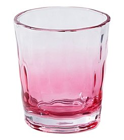 Living Quarters Pink Ombre Acrylic Double Old Fashioned Glass