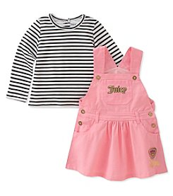 Juicy Couture Girls' 12 Months- 4T Printed Dress Overall Set