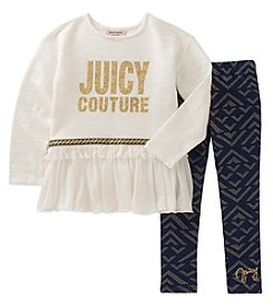 Juicy Couture Girls' 12 Months- 24 Months Long Sleeve Top & Leggings Set