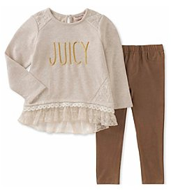 Juicy Couture Girls' 12 Months- 6X Tunic and Faux Suede Leggings Set