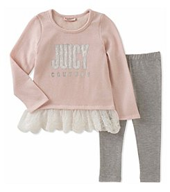 Juicy Couture Girls' 12 Months- 24 Months logo Top and Leggings Set