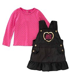 Juicy Couture Girls' 2-6X Denim Jumper Set