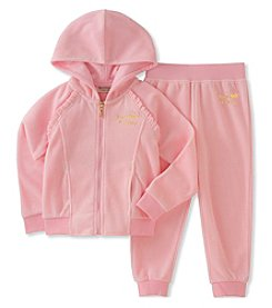 Juicy Couture Girls' 2-6X 2 Piece Velour Set