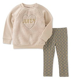 Juicy Couture Girls' 2-6X Heart Tunic and Leggings Set