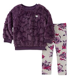 Juicy Couture Girls' 2T-6X Faux Fur Tunic and Leggings Set
