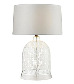Dimond Landscape Painted Bell Glass Table Lamp