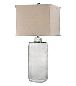 Dimond Hammered Grey Glass Table Lamp