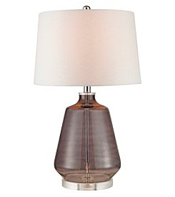 Dimond Grey Smoked Glass Table Lamp
