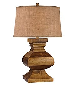Dimond Carved Wood Post Table Lamp