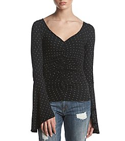 Free People Printed What A Babe Top