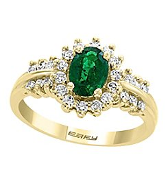 Effy® Brasilica Collection 14K Gold Emerald & .38 Ct. T.W. Diamond Ring