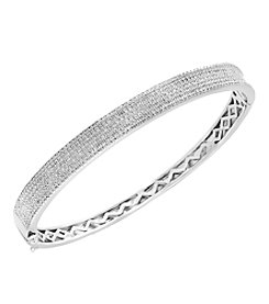 Effy® Pavé Classica Collection Sterling Silver .97 ct. T.W. Diamond Bangle