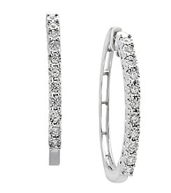 Effy® Reflection Collection Sterling Silver .24 ct. T.W. Diamond Hoop Earrings
