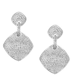Effy® Pavé Classica Collection Sterling Silver .78 ct. T.W. Diamond Earrings