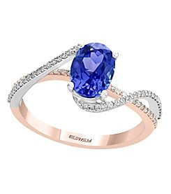 Effy® 14K Gold Tanzanite and .22 ct. T.W. Diamond Ring