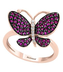 Effy® Amore Collection 14K Rose Gold Ruby Butterfly Ring