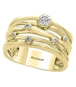 Effy® D'Oro Collection 14K Gold .27 ct. T.W. Diamond Ring