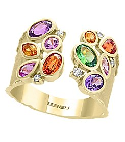 Effy® 14K Gold Muti Color Sapphires And Tsavorite Ring