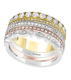 Effy® Trio Collection 14K Gold 1.00 Ct. T.W. Set of Four Diamond Rings