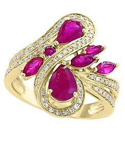 Effy® Amore Collection 14K Gold Ruby And .26 Ct. T.W. Diamond Ring