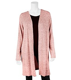 A. Byer Static Pattern Open Front Cardigan