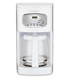 Cuisinart® White 12-Cup Programmable Coffeemaker + FREE Coffee Grinder see offer details