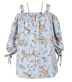 c1691e30cc4f9f Speechless Girls  7-16 Cold Shoulder Top