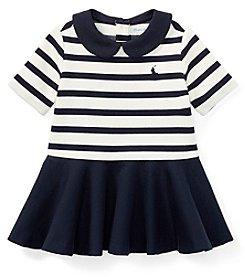 Lauren Baby Girls' Striped Ponte Dress And Bloomers