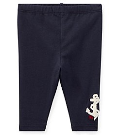 Lauren Baby Girls' Nautical Embroidered Leggings