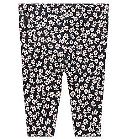 Lauren Baby Girls' Floral Stretch Leggings