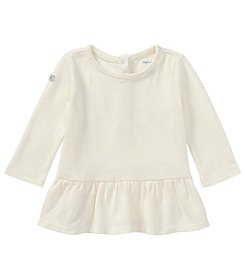 Lauren Baby Girls' Long Sleeve Peplum Shirt