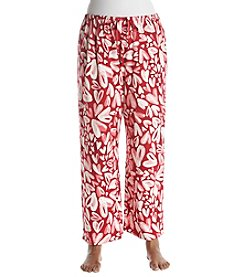 HUE Plus Size Open Hearts Graphic Pajama Pants
