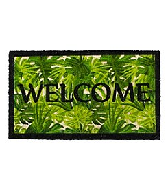 Living Quarters Welcome Leaves Coir Mat