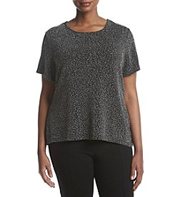 Calvin Klein Plus Size Metallic Print Top